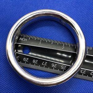 Silver Doughnut Bangle Bracelet 925